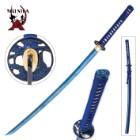 Musha Hand-forged Blue Damascus Samurai Sword