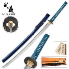Musashi Midnight Warrior Katana Clay Tempered Folded Carbon Steel