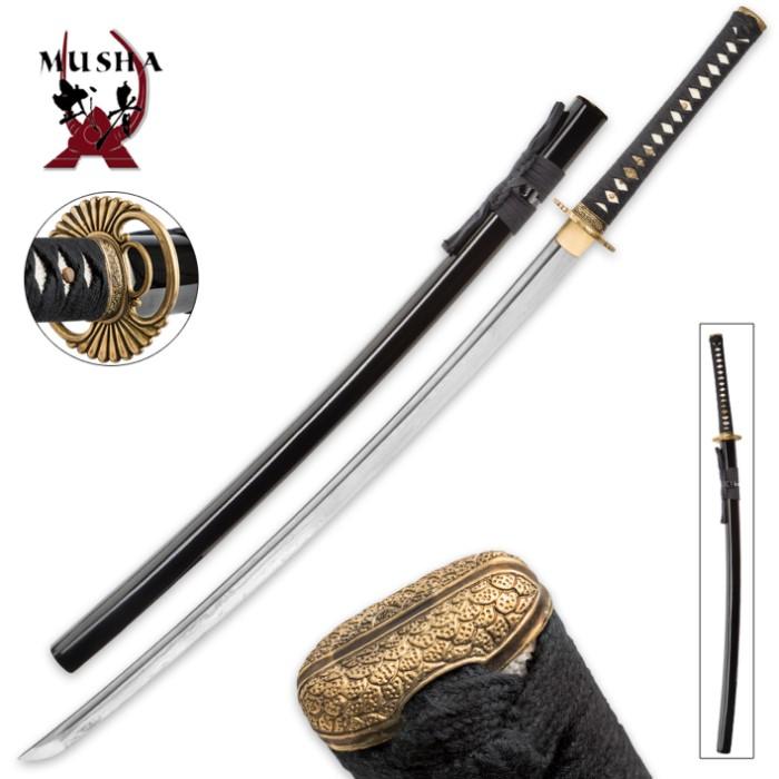 Musha Sharp Damascus Steel Katana Sword 4096 Layers True Swords