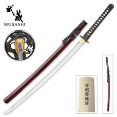 1060 Carbon Steel Hand Forged Musashi Katana Sword