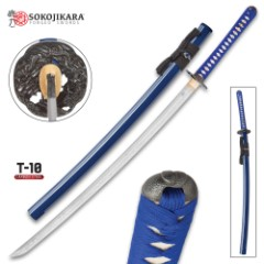 Sokojikara Clay Tempered T10 Steel Royal Blue Katana Sword