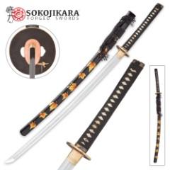 Sokojikara Autumn Leaves Clay Tempered Katana - Sword