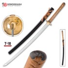 Sokojikara Dynasty Handmade Katana / Samurai Sword - Hand Forged, Clay Tempered T10 High Carbon Steel - Genuine Ray Skin; Bronze Tsuba - Functional, Full Tang, Battle Ready