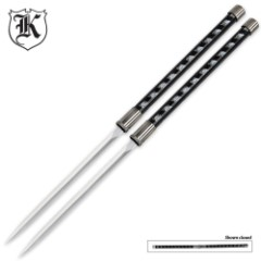 Two Piece Twin Ninja Sword Stick Set