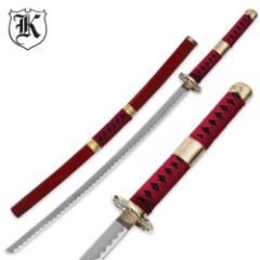 Zolo Wado Anime Fantasy Samurai Sword With Matching Scabbard