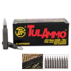 TulAmmo .223 REM 55-Grain Rifle Ammo