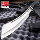 Honshu Boshin Parang With Leather Belt Sheath - 7Cr13 Stainless Steel Blade, Thru-Holes, Molded TPR Handle, Lanyard Hole - Length 19 1/2""