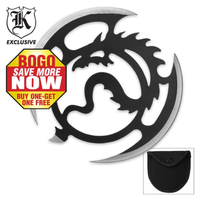 Flying Dragon Thrower with Pouch 2 For 1