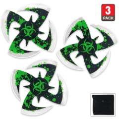 Biohazard Throwing Stars 3pc Set