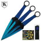 Blue Blade Three-Piece Throwing Knife Set
