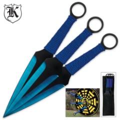 Blue Blade 3 PC Throwing Knife Set