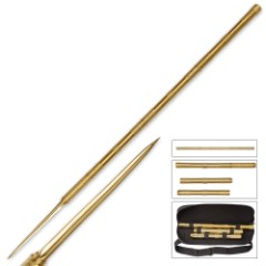 B.M.F. Tri-edged Gold Heavy Spear
