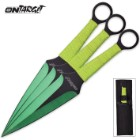 On Target 3-Piece Throwing Knife Set Green