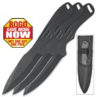 On Target 3-Piece Black Throwing Knife Set - BOGO