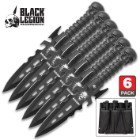 Black Legion Undead Reaper Six Piece Throwing Knife Set With Sheath