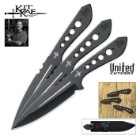 Kit Rae AirCobra 10 3/8 Inch Throwing Knife Triple Set