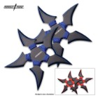 Perfect Point 2-PC Throwing Stars Set Black And Blue