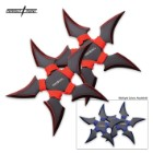 Perfect Point 2-PC Throwing Stars Black And Red