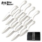 Ridge Runner 12 Ninja Throwing Knives Set with Sheath