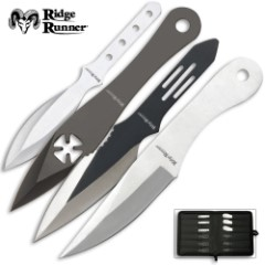 24-Piece Ridge Runner Throwing Knives Set