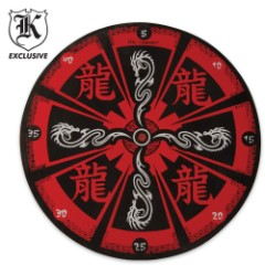 Red Dragon Throwing Knife Ninja Star Target Board
