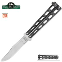 Bear Silver Vein 5 inch Butterfly Knife