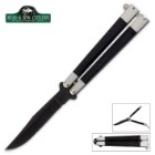 Smooth Black Butterfly Knife