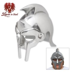 Legends in Steel Gladiator Warrior Steel Helmet