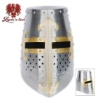 Crusader Helmet with Brass Fittings