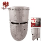 Legends In Steel Crusader Battle Helm 14 Guage Steel