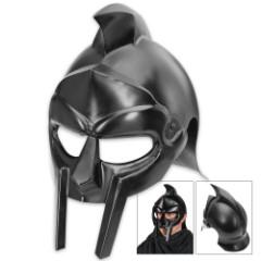 Legends In Steel Black Gladiator Warrior Helmet
