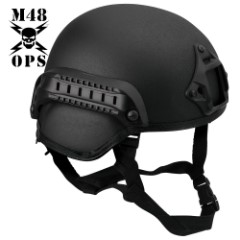 M48 OPS Tactical Base Jump Helmet Black