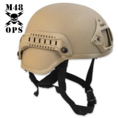 M48 Gear Tactical Base Jump Helmet Tan