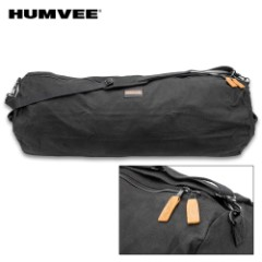 "Humvee Medium Zippered Duffel Bag – Cotton Canvas Construction, Two-Way Zipper, Reinforced Handles, Water-Repellent – Dimensions 36""x 21""x 21"""