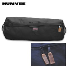 "Humvee Large Zippered Duffel Bag – Cotton Canvas Construction, Two-Way Zipper, Reinforced Handles, Water-Repellent – Dimensions 42""x 25""x 25"""