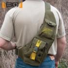 "BugOut Sling Bag Day Pack - Tough Cotton Canvas Construction, Multiple Pockets, Adjustable Strap - Dimensions 19 3/4""x 9 3/4"""