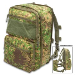 Green Zone Expandable Flatpack And Quick Detach Chest Rig - 1000D Nylon Construction, MOLLE Panel, Adjustable Straps