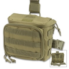 Rapid Interception Trauma Dump Pouch – Rapid Access Pouch, Front Zippered Compartment, Two-Way Belt Attachment, Modular Web Attachment Points – Olive Drab