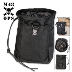 M48 Gear Tactical Small Collection Pouch Black