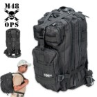 M48 OPS Tactical Knapsack Backpack Black