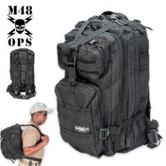 M48 OPS Tactical Knapsack Backpack - Black