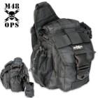 M48 OPS Tactical Waist Sling Bag - Messenger - Black
