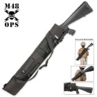 M48 OPS MOLLE Compatible Tactical Shotgun Scabbard - Black