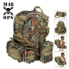 M48 Ops Gear Backpack German Flecktarn Camo