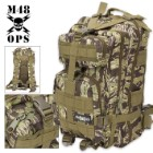 M48 OPS Tactical Assault Backpack - Zebra Camo