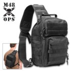 M48 OPS Black Cross Body Shoulder Sling Bag