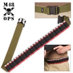 M48 Gear Shotgun Shell Belt – OD Green