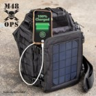 M48 OPS Tactical Solar Panel Sling Pack - Charges Device Via USB Port, Made of 600D Oxford Material, MOLLE Straps, ABS Hardware