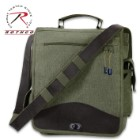 Rothco M-51 Engineer's Field Bag - Heavyweight Cotton Canvas Construction - Everyday Carry Bag - Carry-All Travel School Business Outdoors - Numerous Pockets - Top, Shoulder Carry;  Adjustable Strap