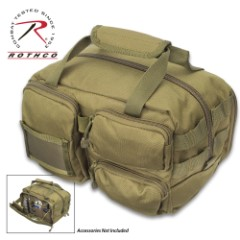 """Rothco Olive Drab Tactical Tool Bag - 600 Denier Polyester Construction, MOLLE Compatible, Top Handles, ID Holder - 11 1/4""""x 8""""x 6 3/4"""""""